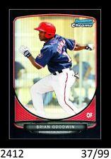 1-2013 BOWMAN CHROME BLACK REFRACTOR BRIAN GOODWIN ANGELS /99 QTY