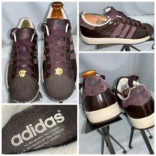 Adidas Superstar II TL sz 8.5 Men Brown Purple Leather Mint Cond YGI G0S-74