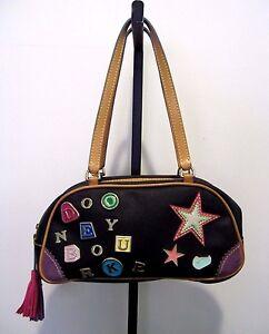 DOONEY & BOURKE Black Mini Duffel Handbag with Classic DB Design