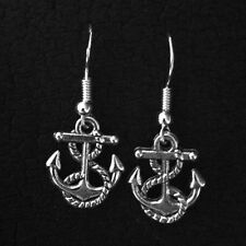 925 Sterling Silver Anchor Rope Dangle Earrings Jewelry