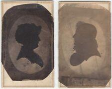 Pair of New York City Carte de Visites of Antique Silhouettes
