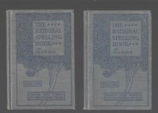 The Rational Spelling Books Part one & Two Hardcover J.M. Rice 1898. Grades 4-8.