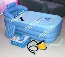 Secuda Adult Folding Portable SPA Bathtub PVC Warm Inflatable Bath Tub Air Pump