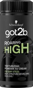 Schwarzkopf Got2b Hair Roaring High Texturising Powder To Cream 20g