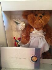 The Blushing Bride Heirloom Collector Teddy Bear The Franklin Mint