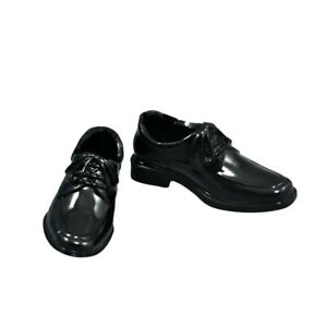 """1/6 Scale Men's Black Leather Shoes Toys For 12"""" Male Action Figure Body"""