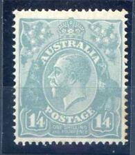 More details for australia 1/- 4d pale blue sg66 unmounted mint