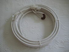 "Cotton Lariat Rope Reata Soga- CR-09  80 ft 5/16"" dia., w/Leather Burner"