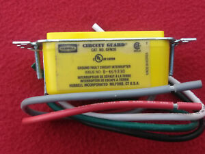 Hubbell GFCI Ground Fault Circuit guard Interrupter GFM20 Yellow 20AMP 120V 60Hz