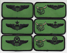 """USAF Patch 469th FLYING TRAINING SQUADRON 6 Piece Nametag Set, each 2"""" X 4"""" Size"""