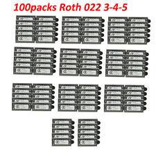 100Packs Dental OC Orthodontic Metal Brackets MIM Braces Mini Roth 022 Hooks 345