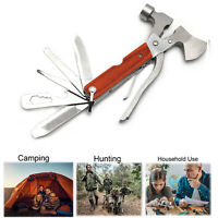 Multi function Outdoor Camping Emergency Survival Tools Axe Hatchet Hammer Plier