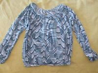 Tolles leichtes Damen Langarm Shirt in Gr. M von Amisu