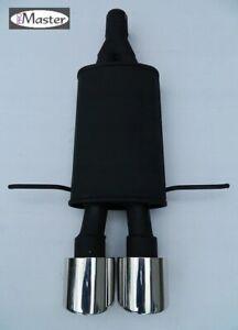 Sport Exhaust Rear Silencer Back Box  Centre  MINI COOPER S 1.6 R56 R57  2x100
