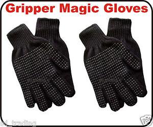 24 Pair Winter Grippèr Black Magic Gloves Unisex Men Ladies one size Wholesale