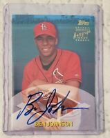 2000 Topps Traded Autographs Ben Johnson St. Louis Cardinals AUTO