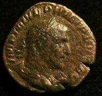 PHILLIP II DEPENDIUS IMPERIAL ROMAN COIN  - VG CONDITION - LARGE COIN