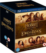 ❏ Middle Earth Collection Blu Ray Lord of the Rings Trilogy + Hobbit Trilogy ❏