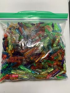 "Lot of 550+ Lite Brite Light Bright Pegs Assorted Colors 1"" Medium 1978"