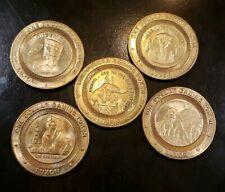 Set of 5 Luxor Casino $1 Slot Tokens