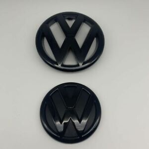 Glossy Black Front and Rear Badge Emblem for VW Jetta Sedan 2011-14 MK6