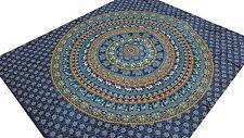 Couvre-lit indien Éléphants Coton Mandala Jeté de lit Tenture Tapisserie Inde B3