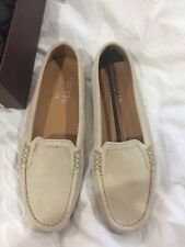 Frette Italy Harry's London NWT Flats 39.5 Suede Leather Neutral Women Driving