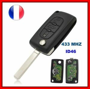 Schlüsselrohling ID46 CE0523 für Peugeot 307 Cc 308 407 607 Expert Jumpy C4 C5