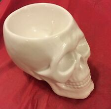 7 Inch Skull Candy Bowl Figurine Statue Ceramic New
