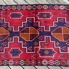 Handmade Afghan Kazakh Rug 4x6 Geometric Patterns Tribal Design 100% Camel Hair