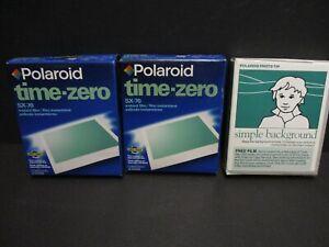 Polaroid sx-70 film expired Polaroid time zero color film 4 sealed packs