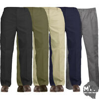 MYT Mens Elasticated Waist Work Casual Rugby Trousers Pants Smart Rugby Trousers