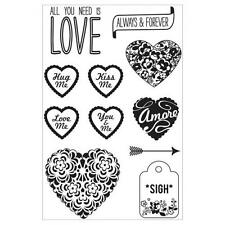 Basic Grey True Love Collection Cling Stamps By Hero - Amore
