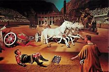 "Charlton Heston and Stephen Boyd in Ben-Hur 4x6"" Postcard Movieland Wax Museum"