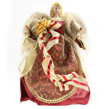 30cm Traditional Red Angel Fairy Xmas Christmas Tree Topper Ornament Decoration