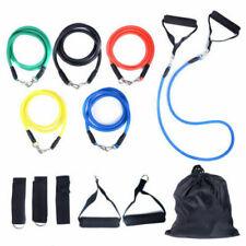 11 pcs Resistance Exercise Band kit Yoga Pilates Fitness Strap Home Trainer