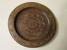 ANTIQUE WOODEN PLATE -- HAND CARVED -- FROM GERMANY -- 1930s
