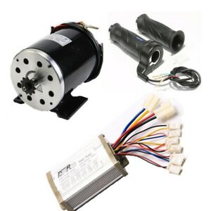 36V 800W Brush Motor + Speed Controller Throttle Grip Electric Scooters Bicycle