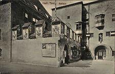 Hall Österreich Tirol 1912 gelaufen nach Weidling Rathaus Gebäude Behörde Wappen