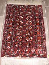 3x5ft. Vintage Tekke Turkoman Bokharra Wool Rug