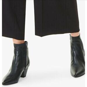 Sam Edelman Ladies Black Leather Block Heel Ankle Boot BNWB UK 9 Zip