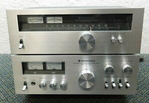 Vintage Kenwood KT-5500/ KA-5700 Tuner and Amplifier (WORKING)