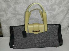 Mario Hernandez Colombia Design Chartreuse & Black Hand Purse Bag