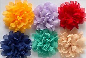 Handmade Chiffon Flower Shoes Clothes Hair Décor 9 cm Diameter