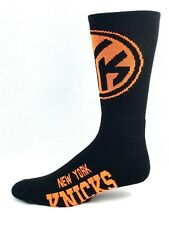 New York Knicks Basketball Black & Neon Half & Half Logo Crew Socks