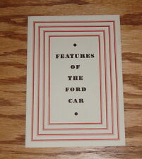 1931 Ford Model A Car Facts & Features Sales Brochure 31