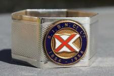 BRITISH INDIA LINE CENTENARY SILVER PLATE BOUGHT ONBOARD NAPKIN RING 1856 1956