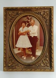 VINTAGE Mid-Century Color Photo Square Dance Couple Christmas Dance Snapshot