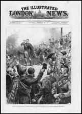 1881 Antique Print - SCOTLAND Stafford House Tartans Highland Regiments   (165)