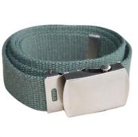 men canvas belt buckle 30mm length, 1.1m width - Green H3M7